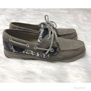 Sperry Leopard Print size 6.5